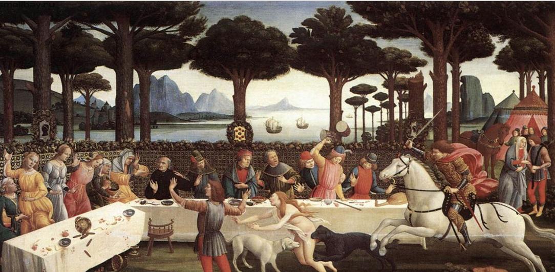 На иллюстрациях все события происходят на фоне рощи средиземноморских сосен