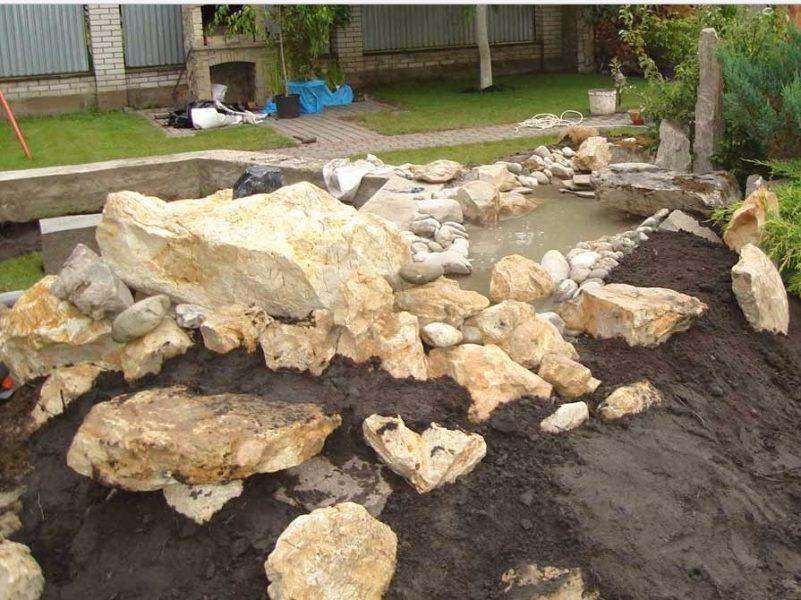 Кладка укрепляет конструкцию и предотвращает осыпание грунта