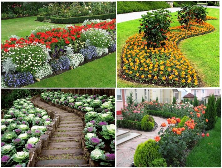 При устройстве рабатки используются разные культуры: однолетние и многолетние цветы, хвойники, кустарники, красивоцветущие растения, травы, декоративные карликовые деревья
