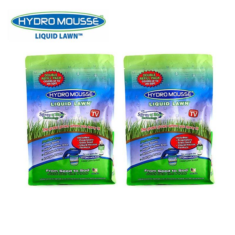 Одного пакета или емкости со смесью Hydro Mousse вместимостью 1 л хватает для нанесения жидкого газона на площади 10 м².